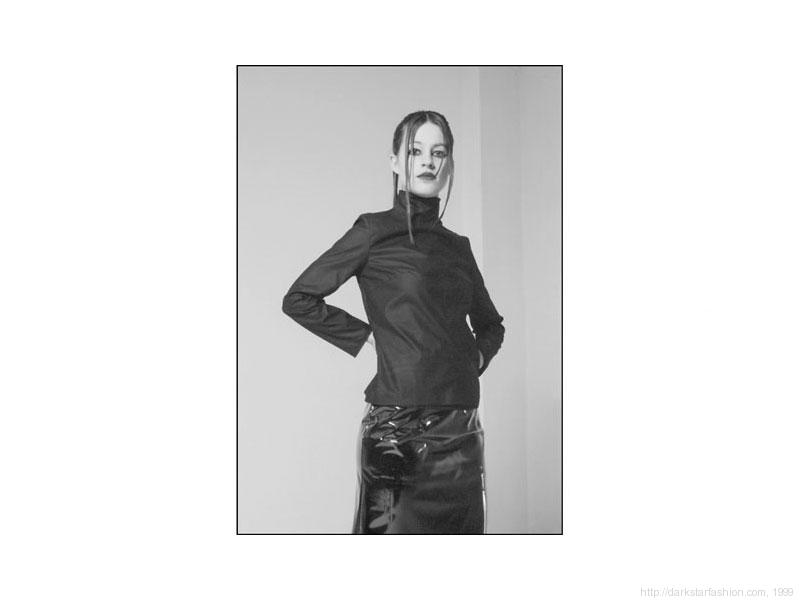 Black matte jocky shirt - Nylon collection - Dark Star fashion - 1999