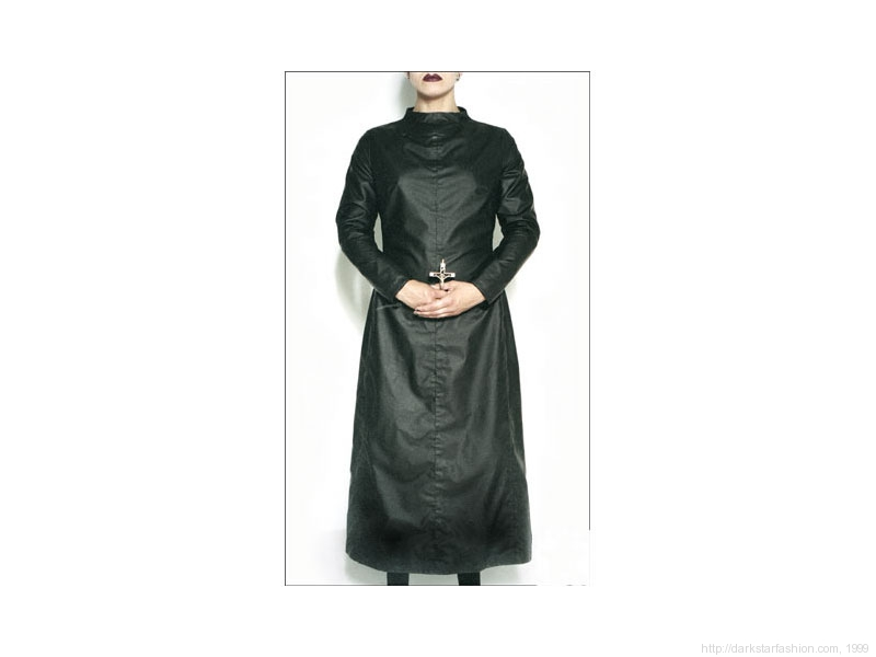 Black nun dress - Nylon collection - Dark Star fashion - 1999