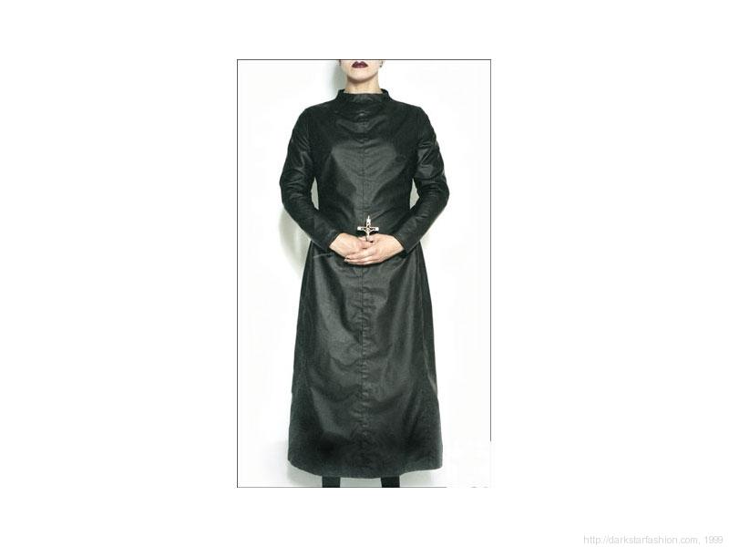 Black nun dress - Nylon collection - Dark Star fashion - 1999