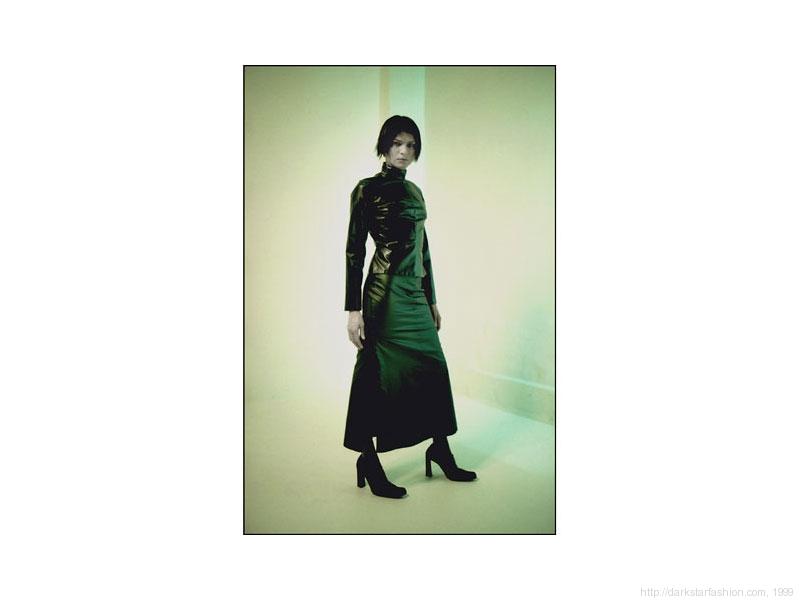 Green zipper skirt - Nylon collection - Dark Star fashion - 1999