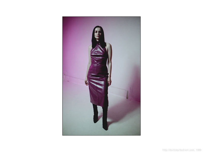 Purple dot dress - Nylon collection - Dark Star fashion - 1999