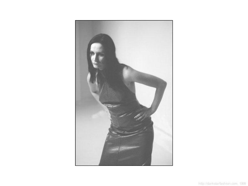 Purple dot dress - Nylon collection - Dark Star fashion - 1999